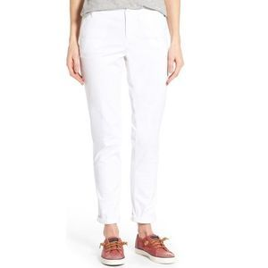 Caslon Sz 6 Flat Front Zip Fly Chino Ankle Pants